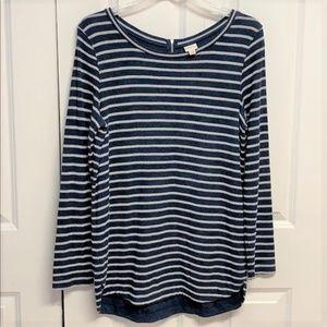 Merona Tunic Top Size L Knit Striped